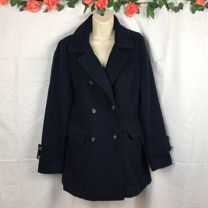Navy Blue Pea Coat